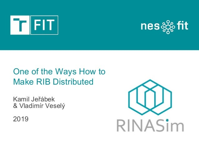 Kamil Jeřábek & Vladimír Veselý 2019 One of the Ways How to Make RIB Distributed