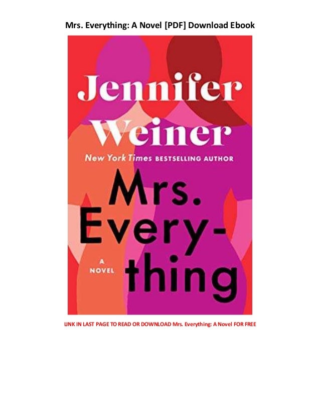 Mrs Everything A Novel Books On Audio Free Books Download For