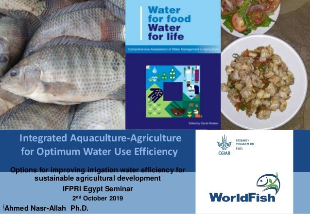 Integrated Aquaculture-Agriculture for Optimum Water Use Efficiency Options for improving irrigation water efficiency for ...