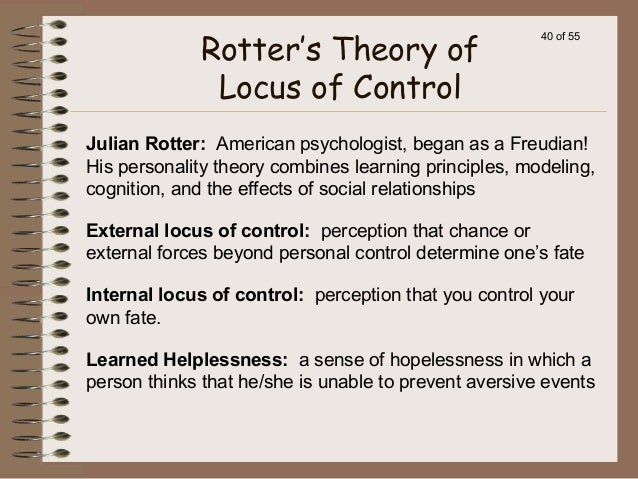 Locus of control and social behaviour essay