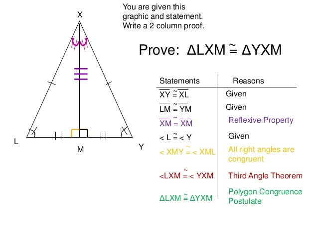 write a two column proof of the third angles theorem proof