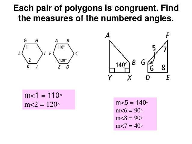 Congruen Polygons Math 5 – Congruent Shapes Worksheet
