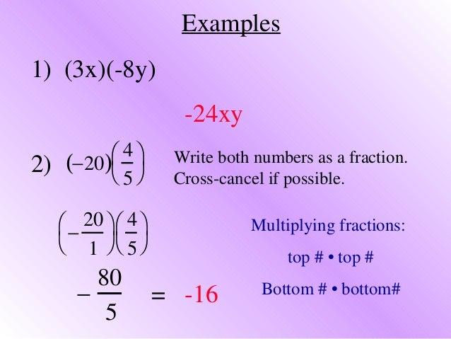 4 1 multiplying rational numbers examples Slide 3