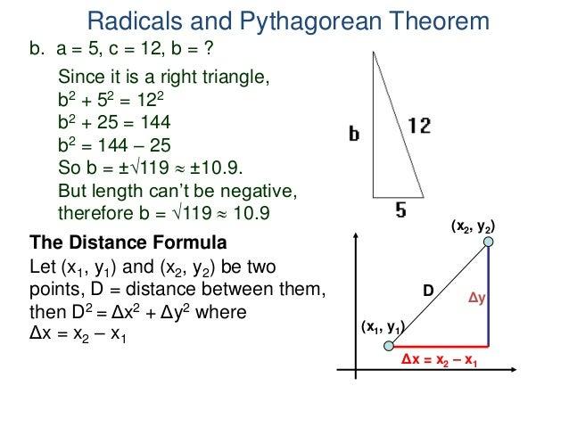 4 1 Radicals And Pythagorean Theorem