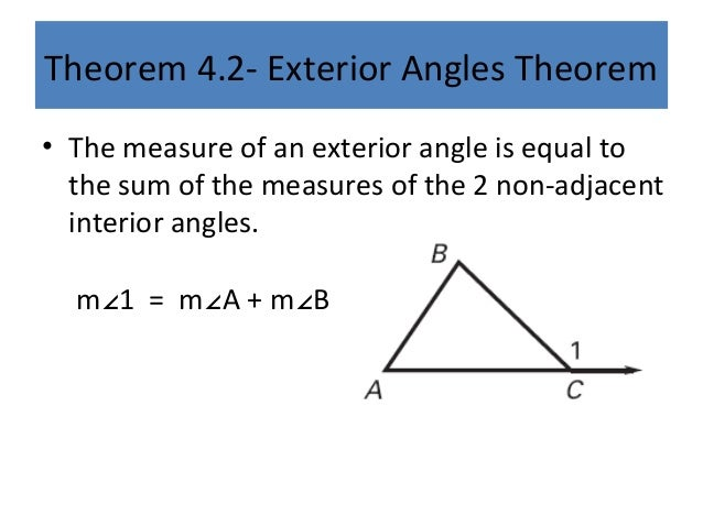 4 1 triangles and angles for Exterior of an angle definition