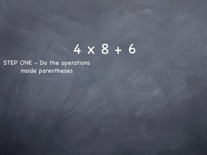 4-2 Order of Operations