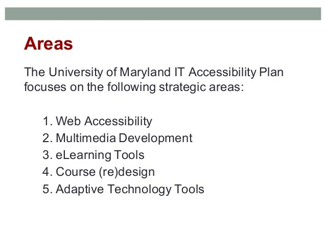 How The University Of Maryland Implemented A Campus Wide It Accessibi