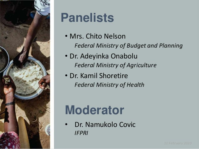 T4N - Session 1: Nigeria experience with prioritization and collection of nutrition data Slide 2