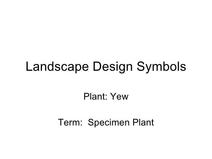 Landscape Design Symbols
