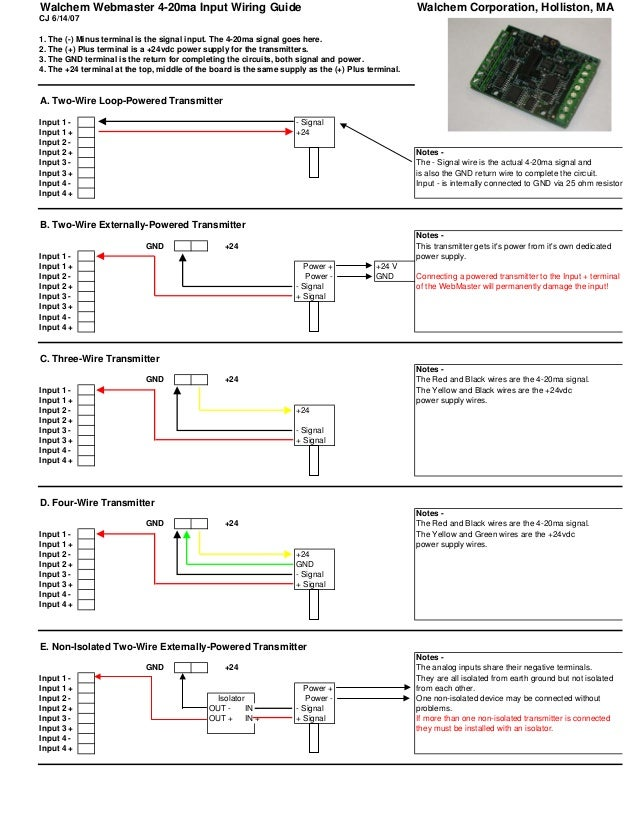3 wire transmitter wiring diagram 4 20ma input wiring  4 20ma input wiring
