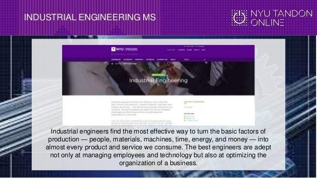 NYU Tandon Online MS in Industrial Engineering Info Webinar