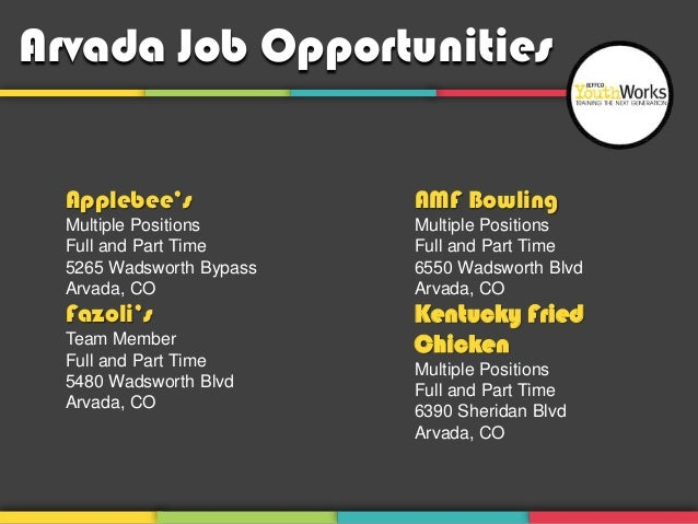 arvada job opportunities applebees amf bowling multiple positions multiple positions
