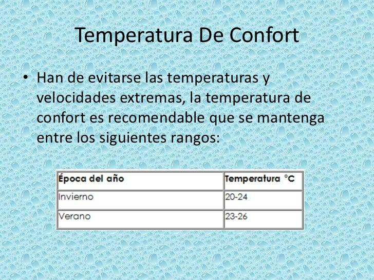 4 2 temperatura exposicion de ergonomia - Temperatura ideal calefaccion casa ...