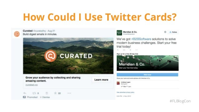 How Could I Use Twitter Cards? #FLBlogCon