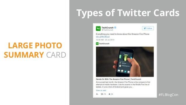 Types of Twitter Cards #FLBlogCon LARGE PHOTO SUMMARY CARD