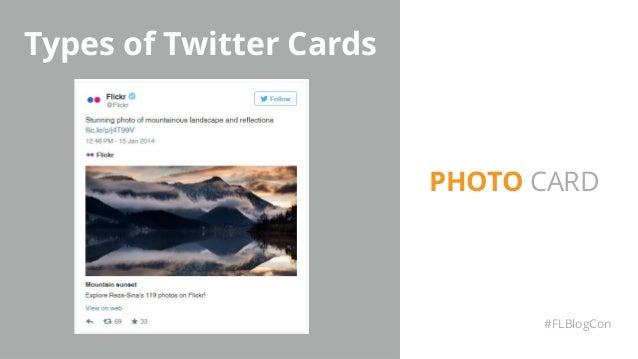 Types of Twitter Cards #FLBlogCon PHOTO CARD