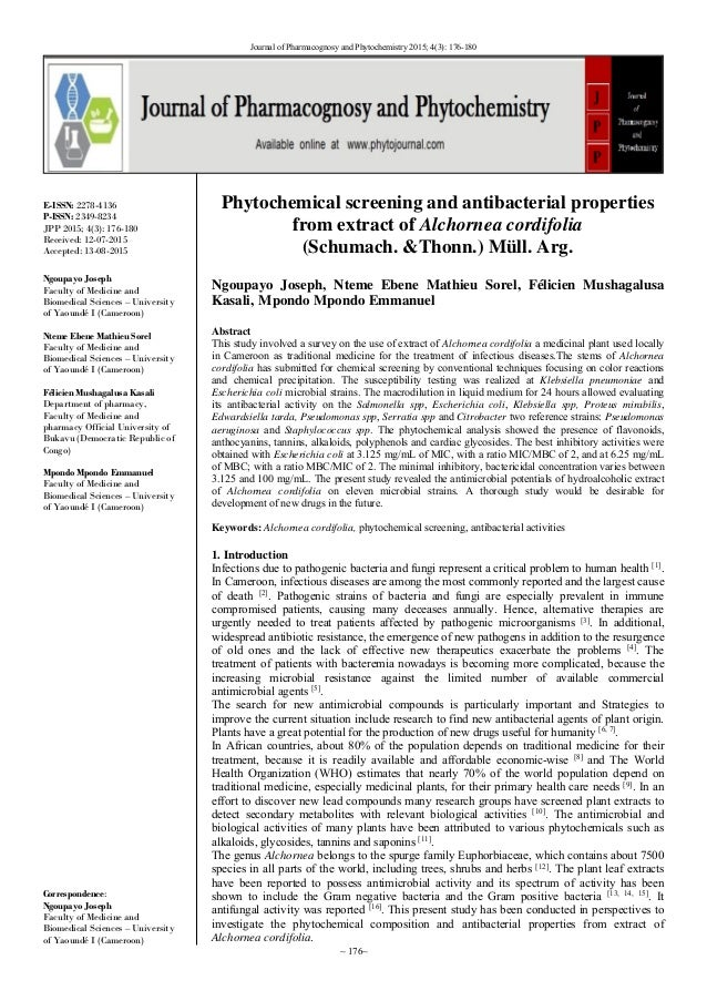 phytochemical screening and potency of diospyros essay Screening of some medicinal plants for antimicrobial properties - phytochemical and pharmacological studies of a selected medicinal plant a thesis submitted to saurashtra university for the.