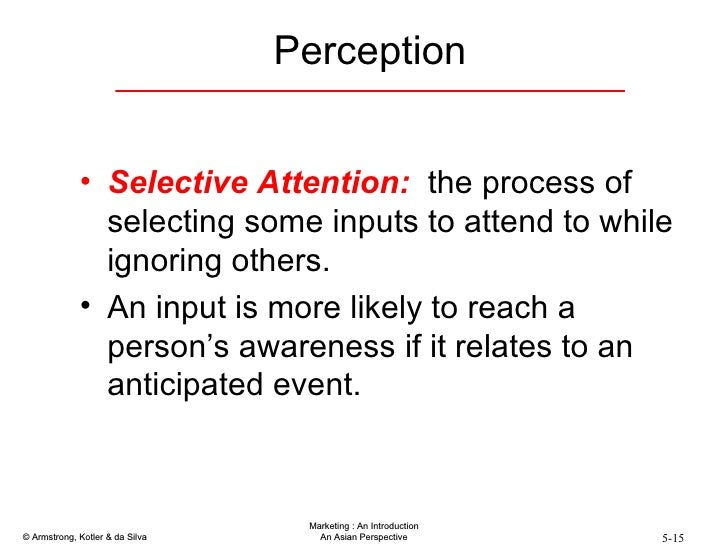 explanation of sensation perception and attention essay The relationship between perception and individual decision making is elaborated which shows the importance of perception finally the affects of perception on other people, group of people and social climate of an organization is explained which will reveal the importance of perception more deeply.