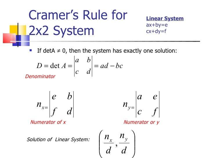 4 3 cramer s rule. Black Bedroom Furniture Sets. Home Design Ideas