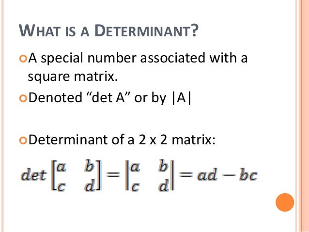 Using Determinants to Solve Systems of Equations