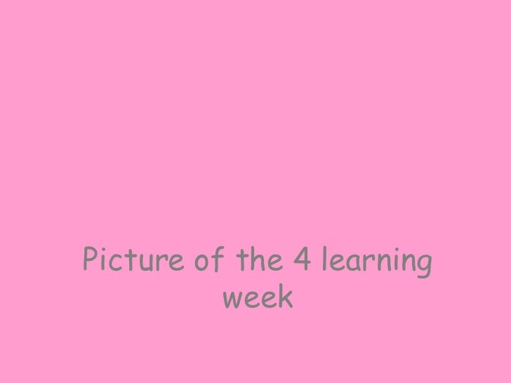 Picture of the 4 learning week