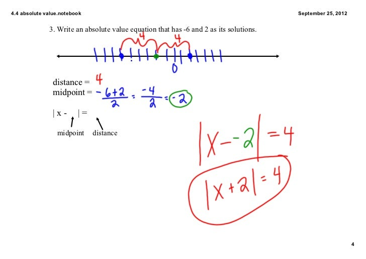 4.4 absolute value equations