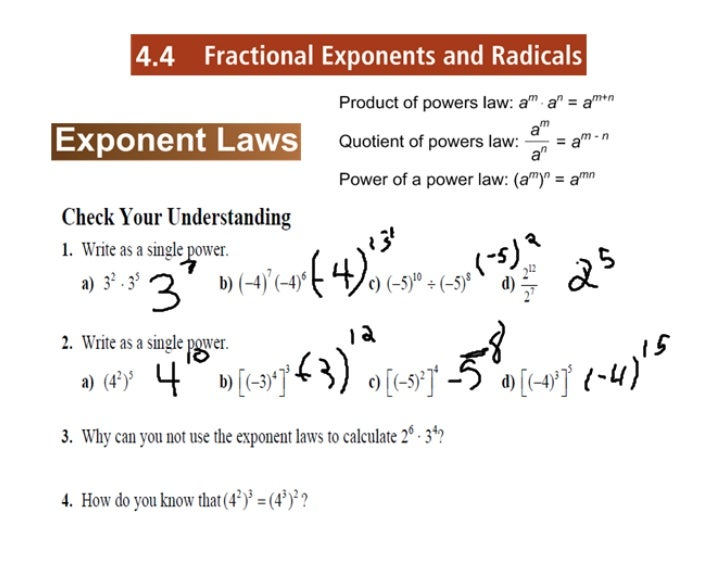 4.4 fractional exponents