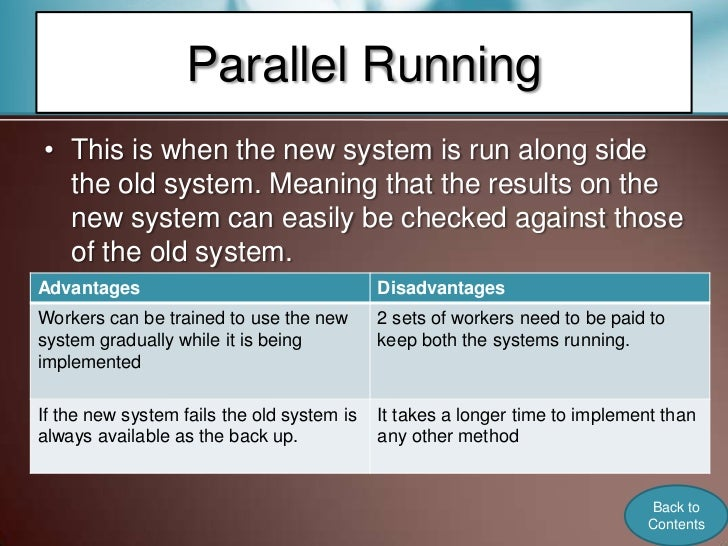 advantages of parallel running Series vs parallel wiring  (the simplest way to do this is to run a wire from the amp terminal to speaker a and then run a second wire from that terminal to .