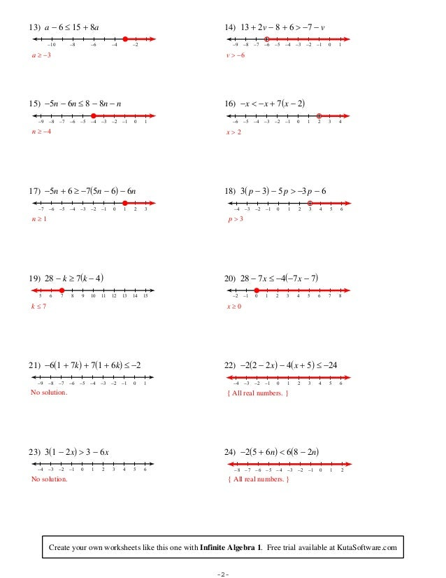 Multi Step Inequalities Worksheets - Rringband