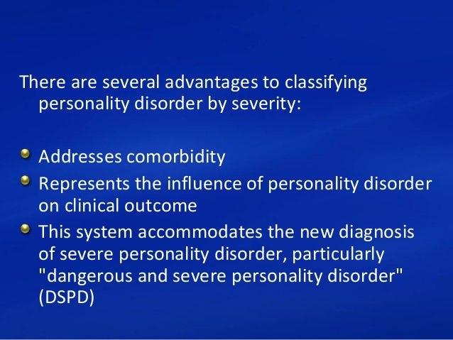 Dangerous and severe personality disorder