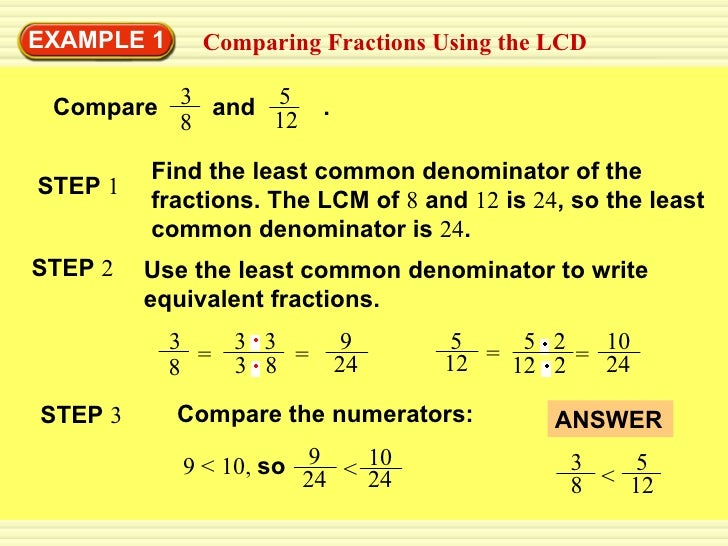 4 5 Comparing Fractions Updated