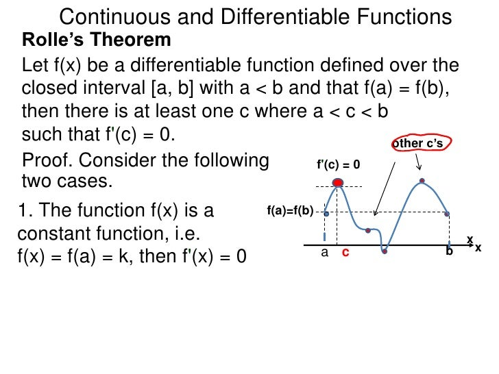 continuity and differentiability In section 12, we learned about how the concept of limits can be used to study the trend of a function near a fixed input value as we study such trends, we are fundamentally interested in knowing how well-behaved the function is at the given point, say x = a in this present section, we aim to expand our.