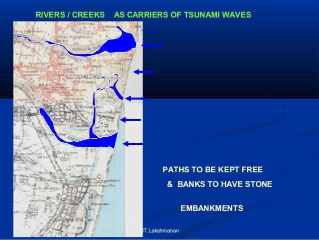the danger of tsunami waves and the measures for reducing tsunami damage A tsunami is not just a single wave but a series of ocean waves called a wave train caused by an underwater earthquake, by a volcanic eruption, landslide, rapid changes in atmospheric pressure, or a meteorite.