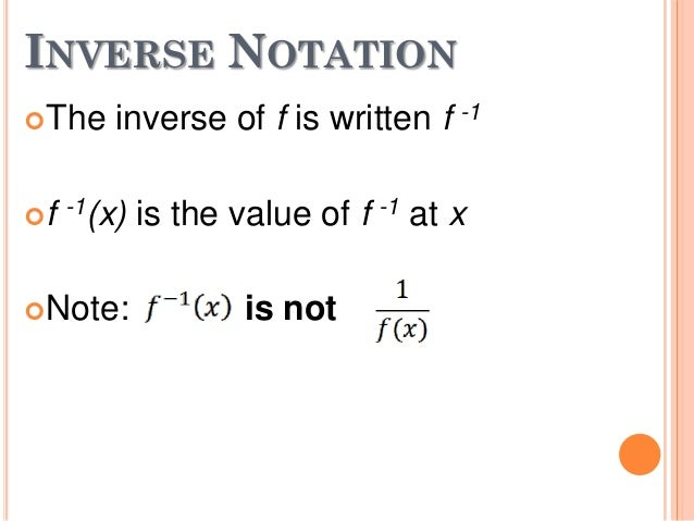 5 1 inverse functions Numerical we collect the following observations for height each second: t 0 1 2  3 4 5  the inverse function t = f-1(s) gives the unique time t ∈ [2,5] for which.