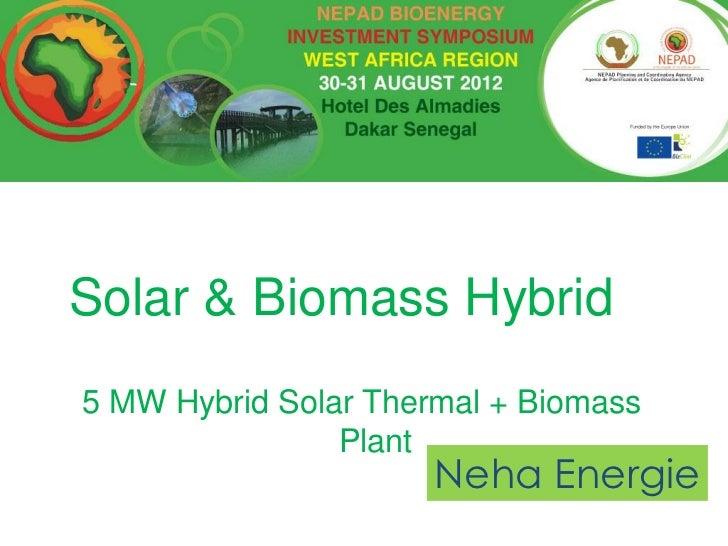 Solar & Biomass Hybrid5 MW Hybrid Solar Thermal + Biomass                Plant                      Neha Energie