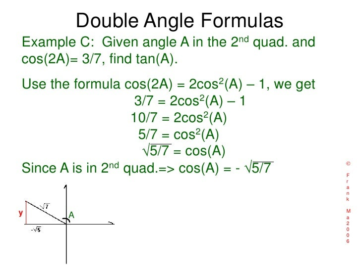 T4 Sum And Double Half Angle Formulas