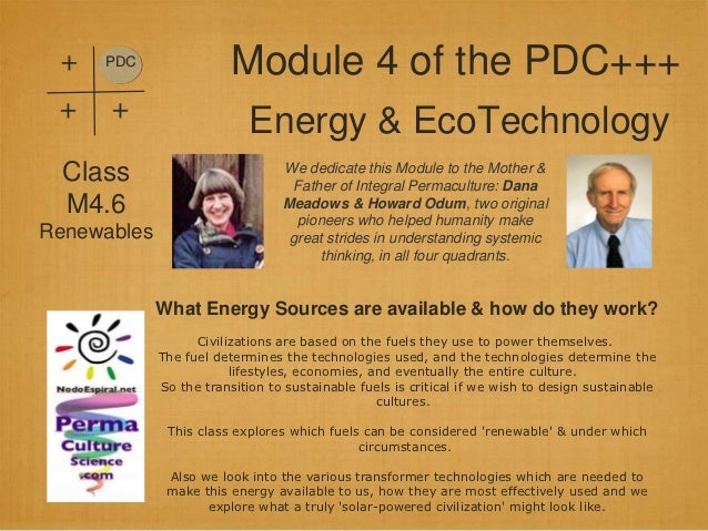 +   PDC                         Module 4 of the PDC+++ +    +                            Energy & EcoTechnology  Class    ...
