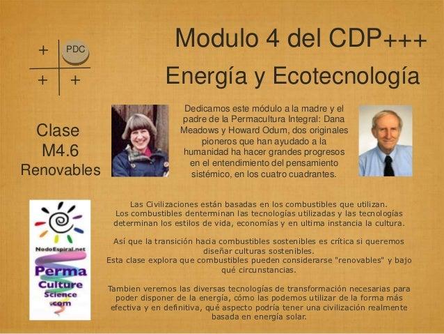 +   PDC                              Modulo 4 del CDP+++  +   +                    Energía y Ecotecnología                ...