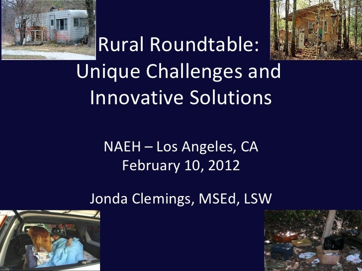 4.6 Rural Roundtable: Unique Challenges and Innovative Solutions