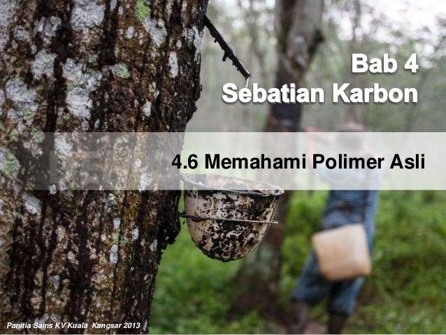 4.6 Memahami Polimer AsliPanitia Sains KV Kuala Kangsar 2013