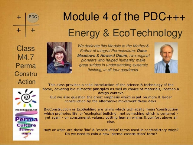 +   PDC                      Module 4 of the PDC++++   +                         Energy & EcoTechnology                   ...