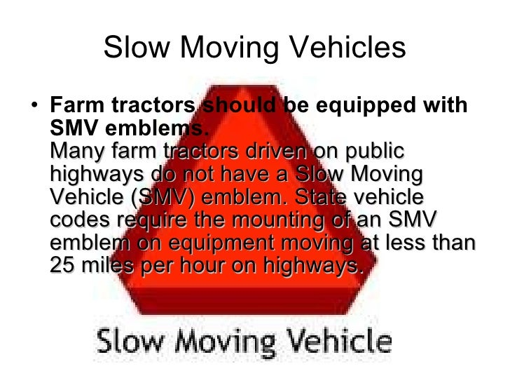 Big Slow Moving Tractor Sign : Tractor safety