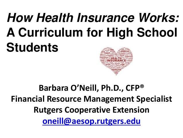 Barbara O'Neill, Ph.D., CFP® Financial Resource Management Specialist Rutgers Cooperative Extension oneill@aesop.rutgers.e...