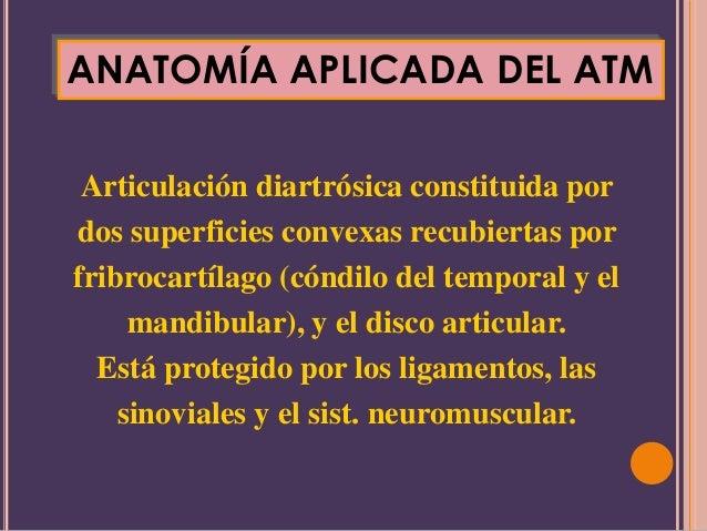 ANATOMÍA APLICADA DEL ATMArticulación diartrósica constituida pordos superficies convexas recubiertas porfribrocartílago (...