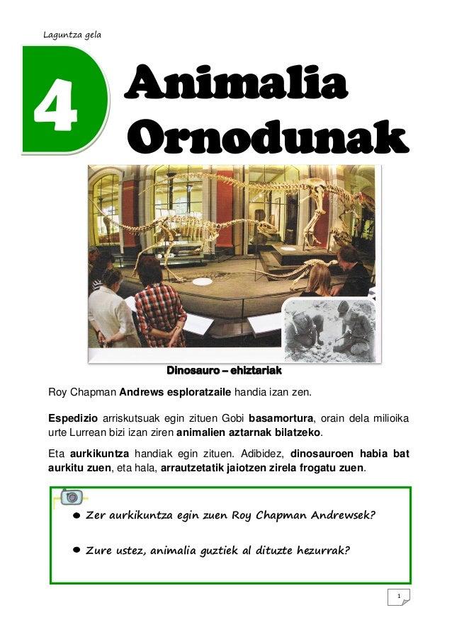 Laguntza gela4               Animalia                Ornodunak                        Dinosauro – ehiztariak Roy Chapman A...