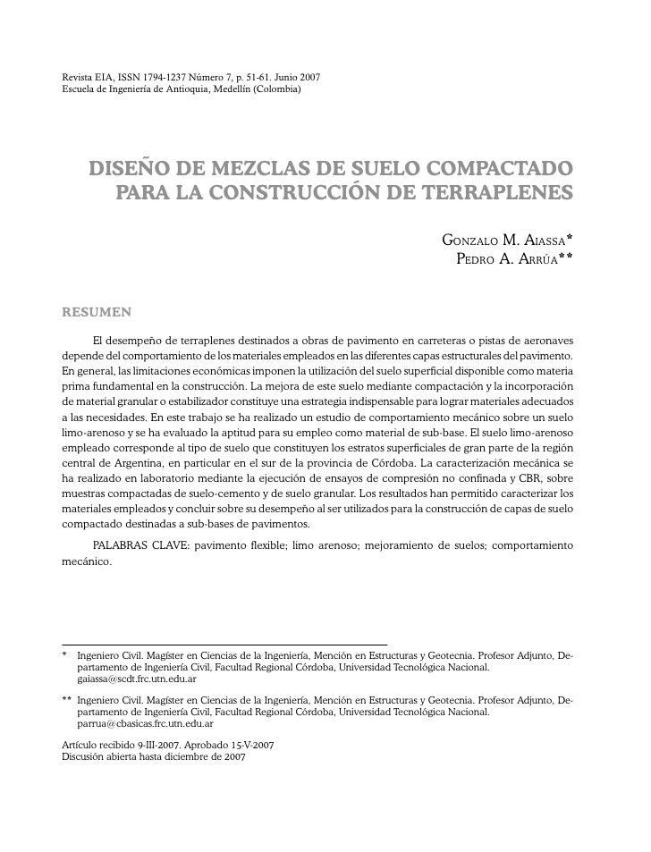 Revista EIA, ISSN 1794-1237 Número 7, p. 51-61. Junio 2007Escuela de Ingeniería de Antioquia, Medellín (Colombia)      Dis...