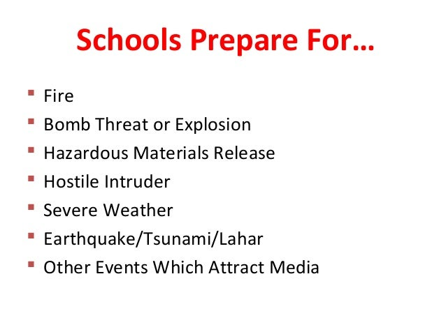 inclement weather policy template - emergency planning in washington state schools barbara