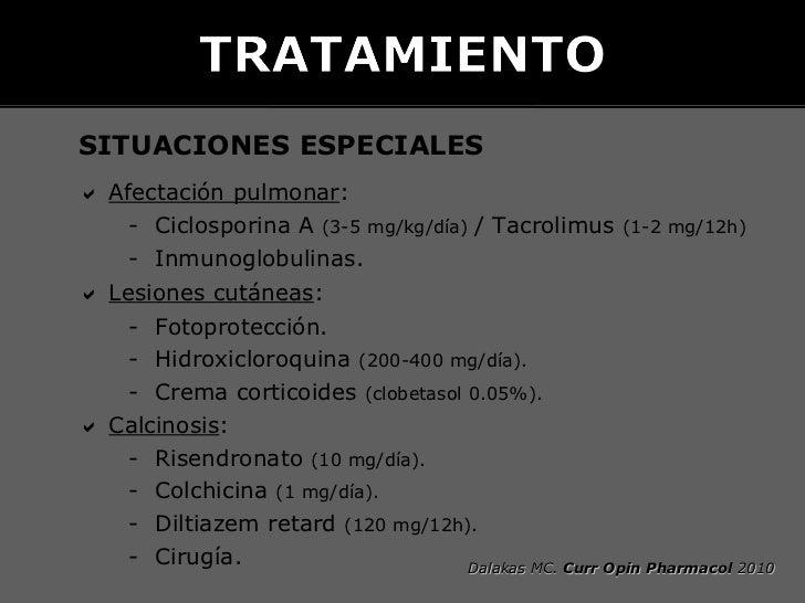    RITUXIMAB    – Series pequeñas de casos.    – Mejoría en DM y PM.    – Efecto en clínica cutánea, muscular y EPID.    ...