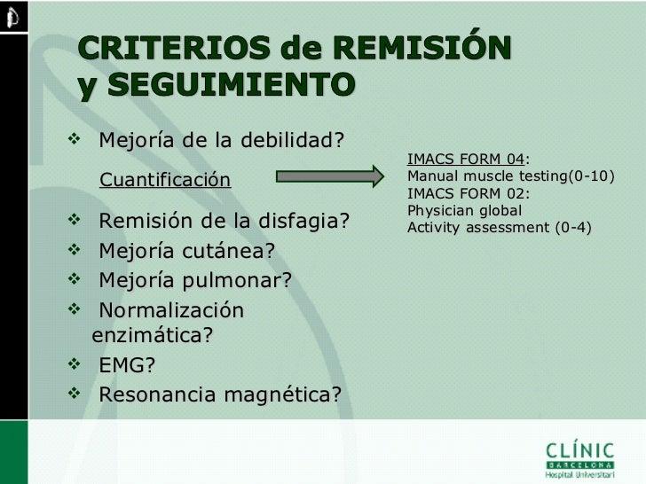 MIOPATÍAS INFLAMATORIASHOSPITAL CLÍNIC BARCELONA       (1997-2008)    n = 84 casos