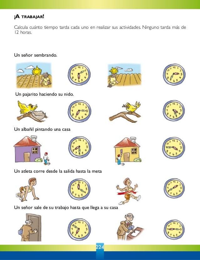 4 primaria pasatiempos matematicas for Cuanto es un cuarto de hora